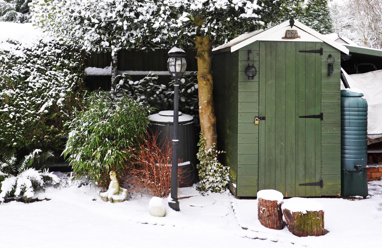 Überleben meine Kompostwürmer, wenn ich den Wurmkomposter auch bei Schnee im Garten habe?